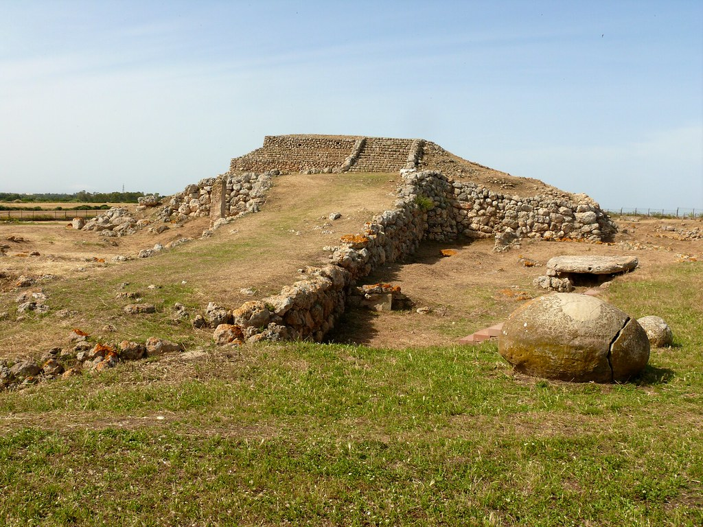 Prehistoric megalithic temple of Monte d'Accoddi