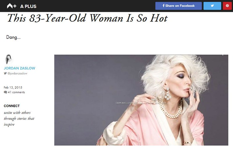 83-year-old model