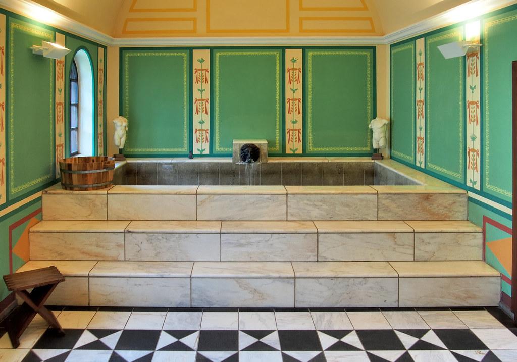 Hot Bath Caldarium C300 Ce Reconstruction Roman Vill