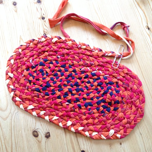 Work in progress - second braided rug