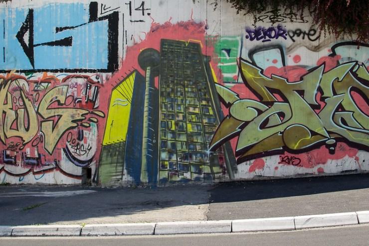 Genex Tower Graffiti