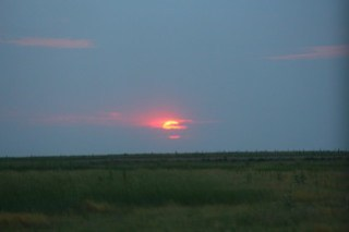 Sunset over the Kansas/Colorado border.
