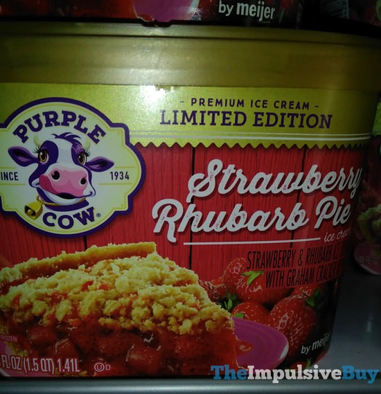 Purple Cow Limited Edition Strawberry Rhubarb Pie Ice Cream