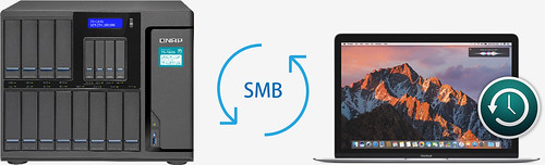 QNAP Time Machine Backup ผ่าน SMB