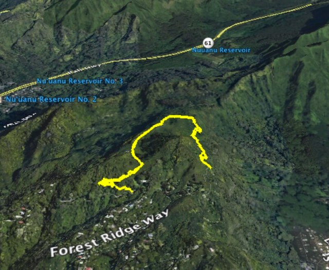 Puu Ohia Trail Map