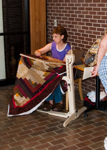 Quiltin Demonstration at Historic Arkansas Museum in May 2007