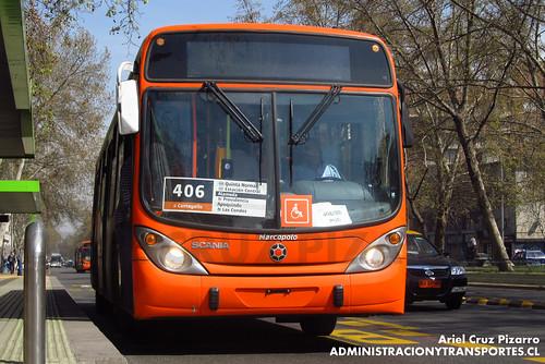 Transantiago - Express de Santiago Uno (U4) - Marcopolo Gran Viale / Scania (CJRV48)