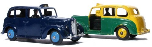 12 Dinky GB Austin Taxi