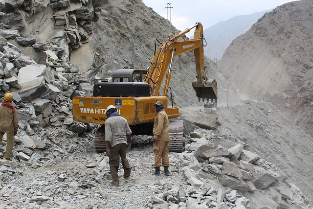 Landslide prone road