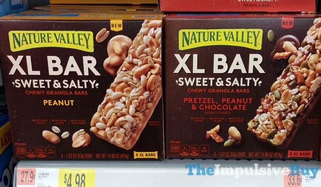 Nature Valley XL Bar Sweet & Salty Chewy Granola Bars (Peanut and Pretzel, Peanut & Chocolate)