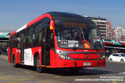Transantiago - Redbus Urbano - Neobus Mega BRT / Volvo (CJRK78)