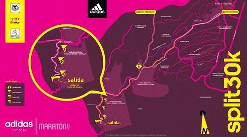 split adidas 30K mapa ruta