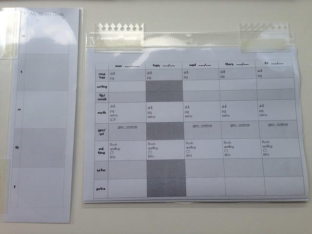my insert pages for planner