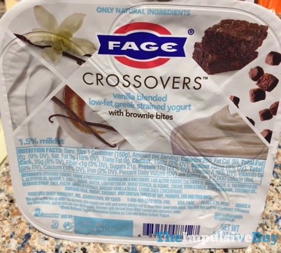 Fage Crossovers Vanilla Greek Yogurt with Brownie Bites