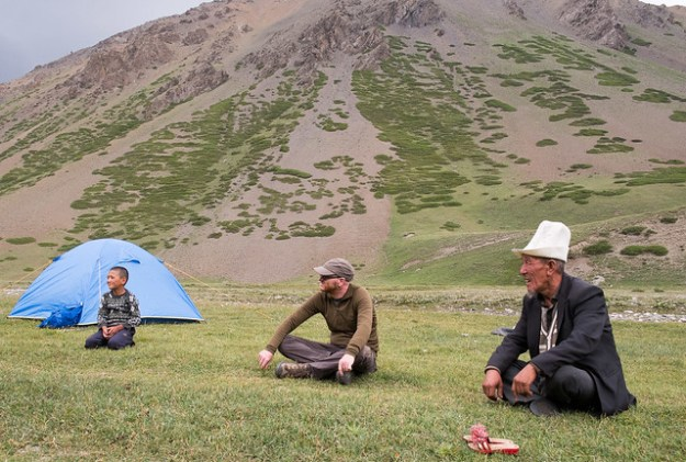 Kyrgyz games at our campsite
