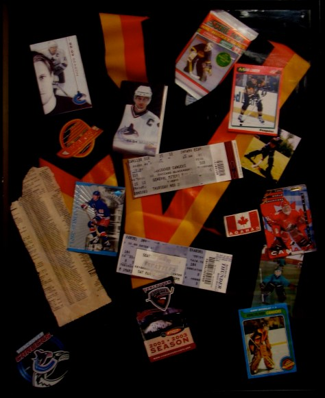 """Canucks Funtime"" Vancouver, BC 2003 / mixed media collage"