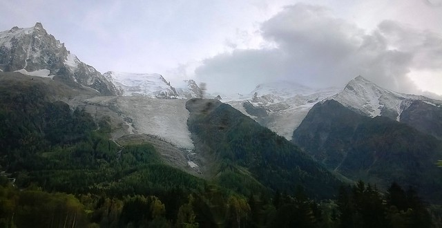 glacier near chamonix mont blanc