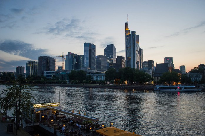Frankfurt Germany skyline sunset