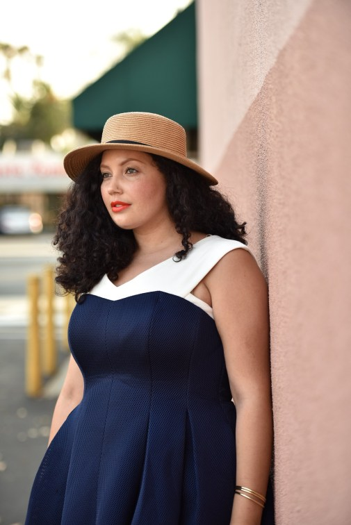 Sweetheart Dress, Boater Hat