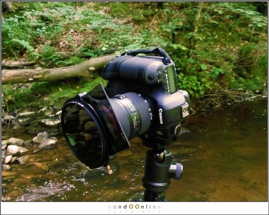 Gebruik van de Landscape Polariser in de praktijk: EOS 5Dmk3 met EF24-70mm f/2,8L II. Hier in combinatie met een 3 stops grijsfilter èn een 3 stops grijsverloopfilter.
