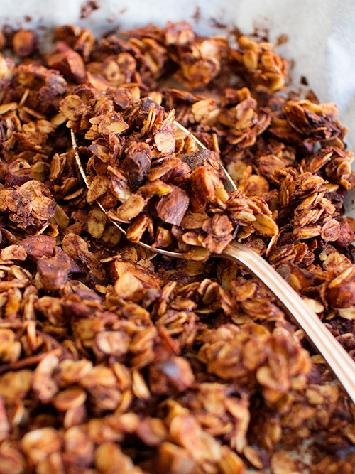 cacao & coconut oil granola | spicyicecream