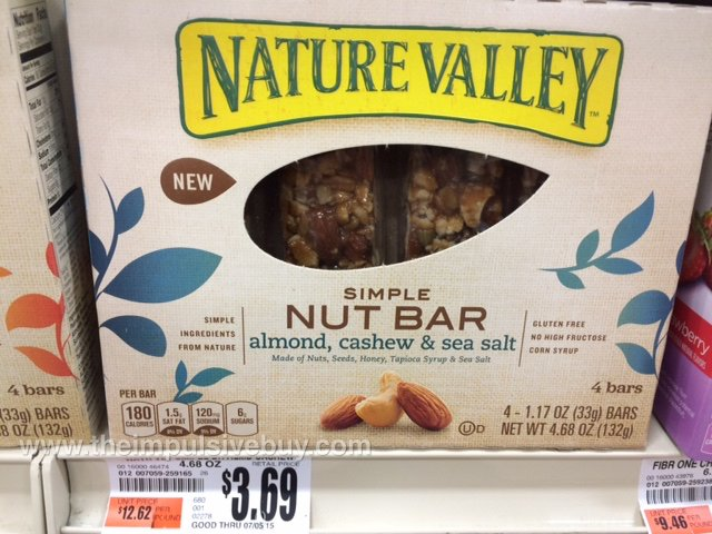 Nature Valley Almond, Cashew & Sea Salt Simple Nut Bar