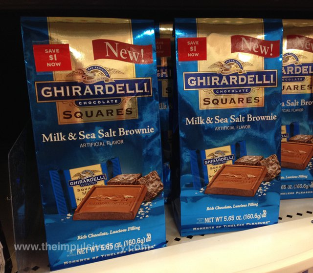 Ghirardelli Milk & Sea Salt Brownie Squares