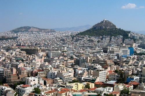 Athens - Acropolis: View of Lykavittos Hill