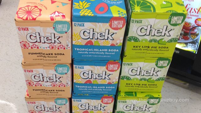Chek Limited Edition Tropical Island and Key Lime Pie Soda