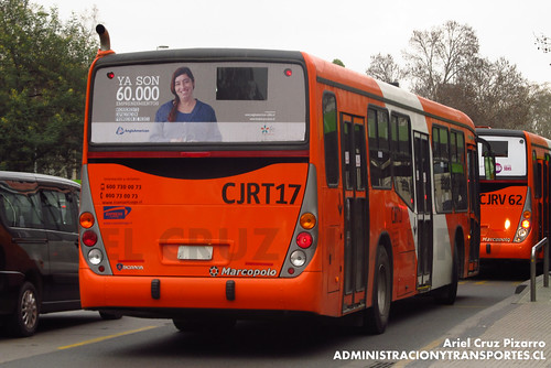 Transantiago - Express de Santiago Uno (U4) - Marcopolo Gran Viale / Scania (CJRT17)