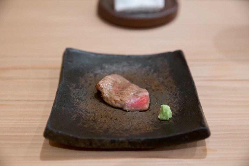 Cooked otoro at Kiyota, Tokyo