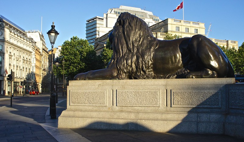Bronze Lion at Trafalgar
