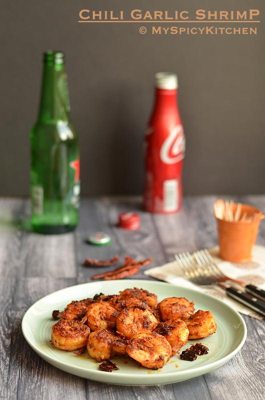 Sauteed Shrimp, Blogging Marathon, Buffet on table