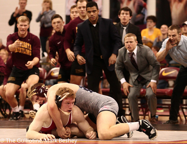 174: Chris Pfarr (Minn) dec No. 20 Ryan Christensen (Wisc), 7-4 | Minn 18 - Wisc 15