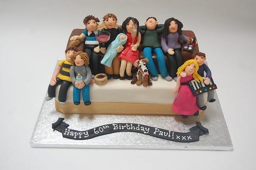 Family Sofa Cake Beautiful Birthday Cakes