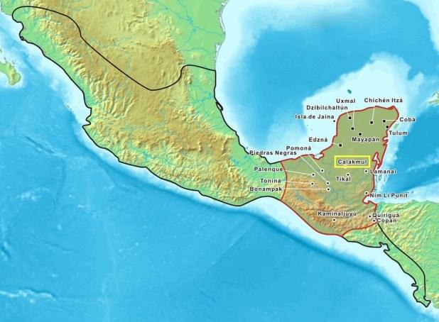 mapa mexico calakmul