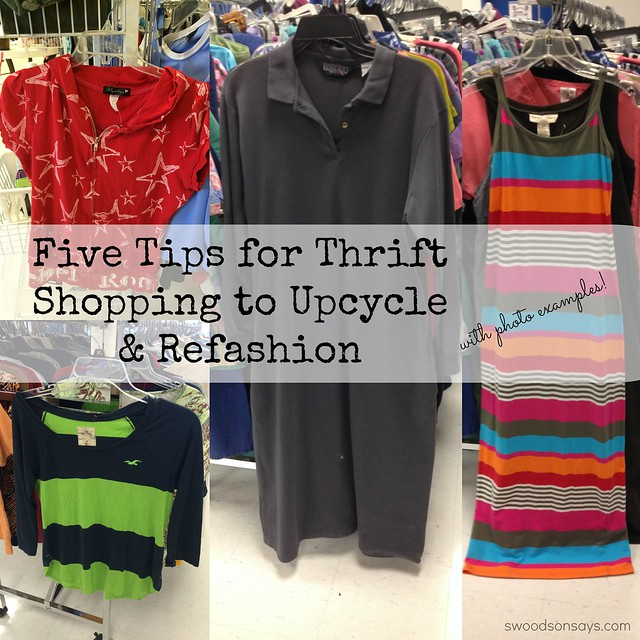 Thrifting tips for refashion and upcycle