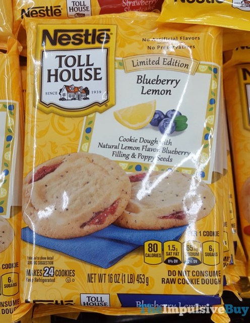 Nestle Toll House Limited Edition Blueberry Lemon Cookie Dough