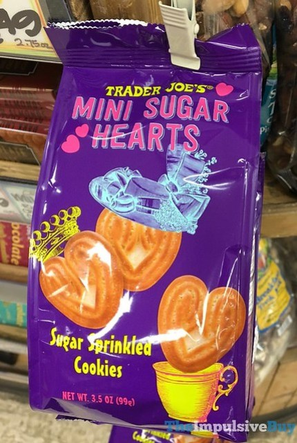 Trader Joe's Mini Sugar Hearts Sugar Sprinkled Cookies