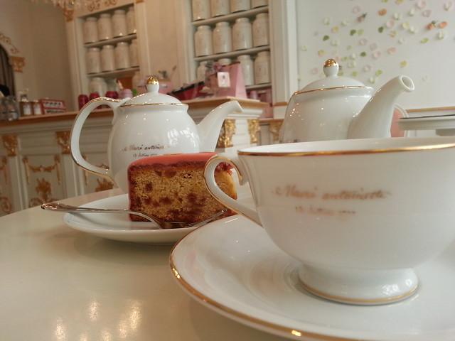 Nina's Paris.  Marie Antoinette tea room.