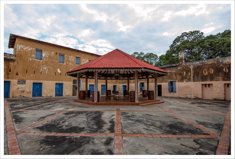 El patio de la antigua prisión