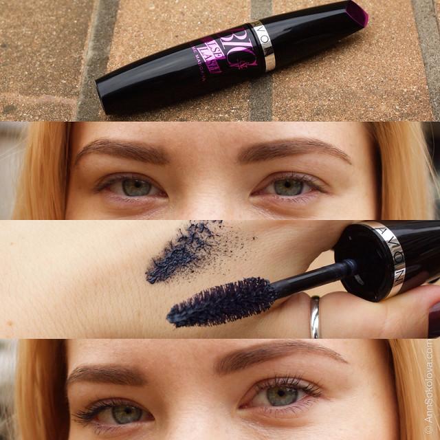 Avon Big&False Lash Volume Mascara black Объем. Эффект накладных ресниц свотчи Aнна Соколова блогер