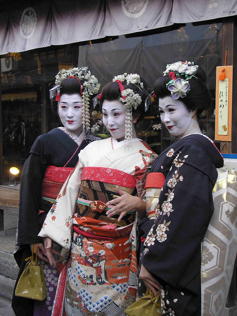 Women dressed up as maiko in Kyoto, 2006