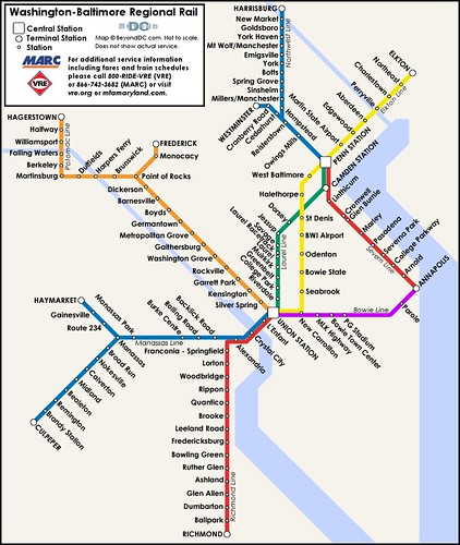 Baltimore Light Rail Map