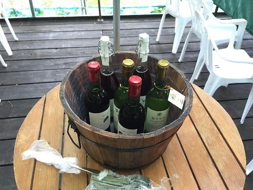 ワインの試飲会始まりまーす!