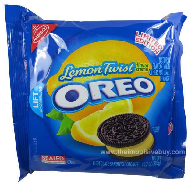 Limited Edition Lemon Twist Chocolate Oreo Cookies