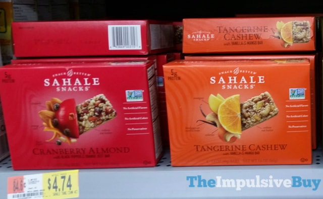 Sahale Snacks Cranberry Almond and Tangerine Cashew Bars