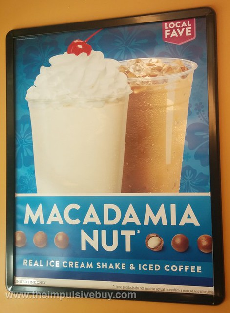 Jack in the Box Macadamia Nut Shake and Iced Coffee