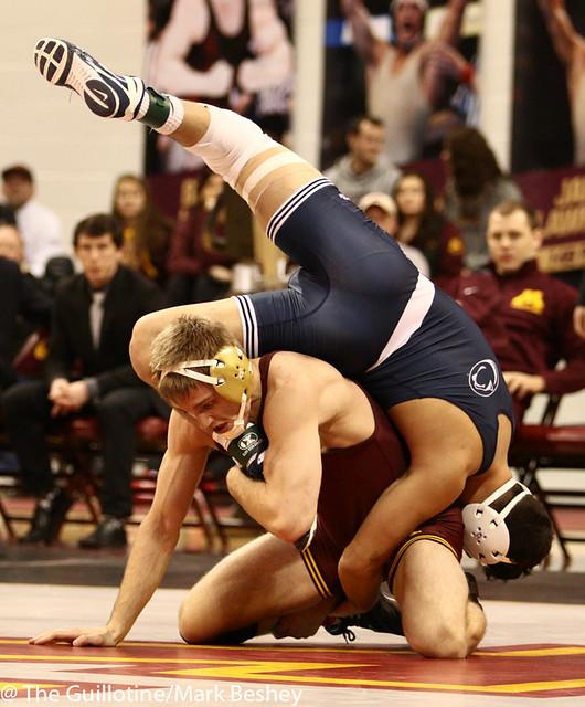 165 #5 Vincenzo Joseph (Penn State) dec. #14 Nick Wanzek (Minnesota) 7-4