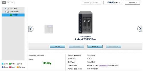 ใน Storage manager เราก็จะเห็น VJBOD แบบนี้